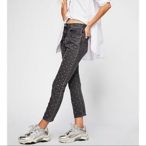NEW Levi's  501 Crystal Crop Embellished Jeans